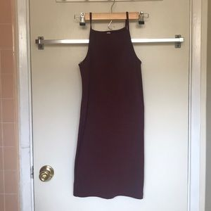 American Apparel maroon fitted dress (s)